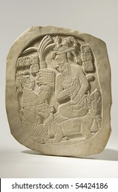 Ancient Mayan Stele Isolated