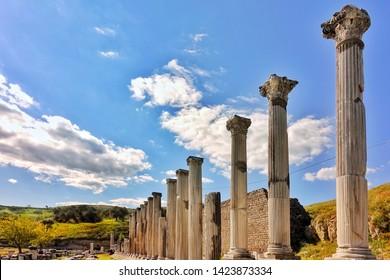 Ancient Medical Center Asklepion in Antique City Bergama Turkey