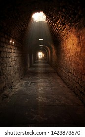 Ancient Medical Center Asklepion Tunnel in Antique City  Bergama Turkey