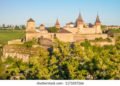 Ancient medieval Kamianets-Podilskyi castle in Ukraine.