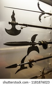 Ancient medieval spears, detail of weapons of war