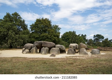 An ancient megalithic tomb in the Netherlands.