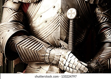 Ancient metal armor - iron detail.