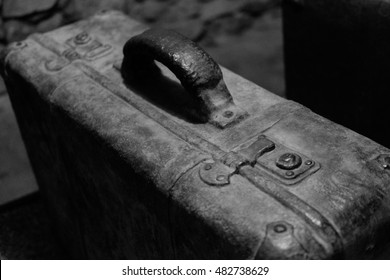 ancient metal suitcase