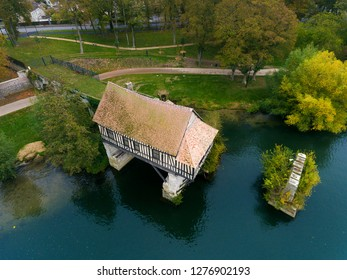 Ancient mill in Vernon, Eure, Normandy, France