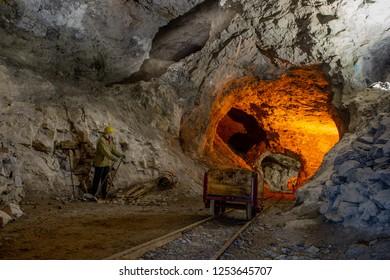 the ancient mines of Dossena Italy