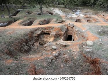 Ancient Minoan cemetery of Armeni. Crete, Greece.