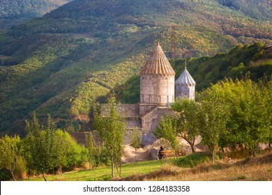 Ancient monastery in autumn day. Tatev. Armenia