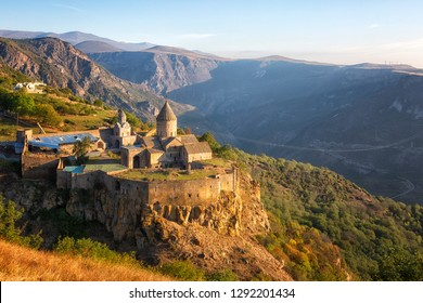 Ancient monastery in autumn. Tatev. Armenia