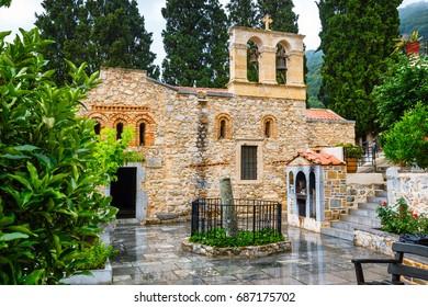 Ancient Monastery Kera Kardiotissa on Crete. Greece