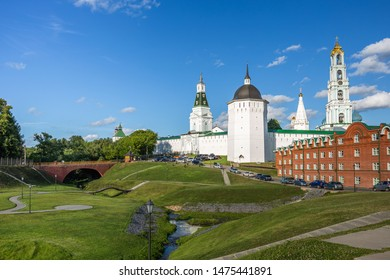 Ancient monastery in the old town, Sergiev Posad, Russia