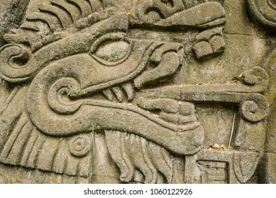 Ancient Monolith Pre-Hispanic Mexico Stone Monument