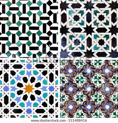 Ancient Moorish Ceramic Tiles Stock Photo Edit Now 151488416