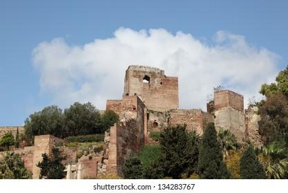 Ancient moorish fortress - Alcazaba de Malaga, Andalusia Spain
