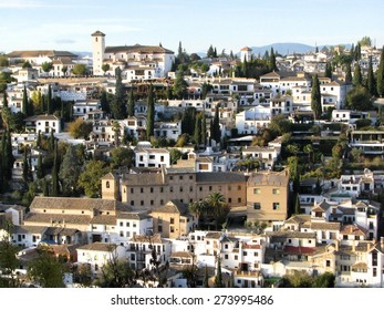 Ancient Moorish quarter El Albaic�­n in Granada, Andalusia, Spain.