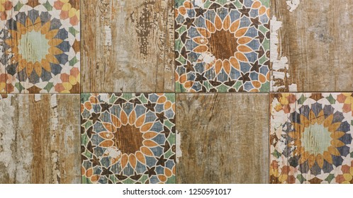 ancient moroccan mosaic tile pattern