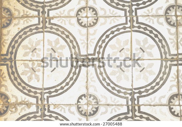 Ancient mosaic floor tile patterns