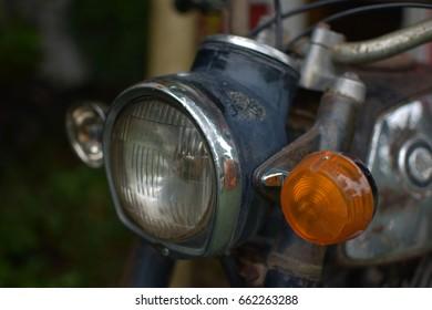 Ancient Motorcycle Lamp