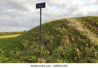The ancient Mound of the Hostages passage grave on the Hill of Tara