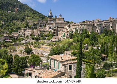 Ancient mountain town Valldemosa in Majorca island, Spain