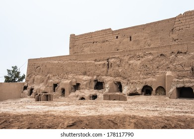Ancient Narin Qal'eh or Narin Castle, a mud-brick fort or castle in the town of Meybod, Iran.