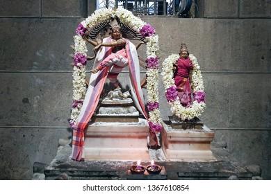 Ancient Nataraj statue in the Ramana Ashram in Tiruvanamalai India
