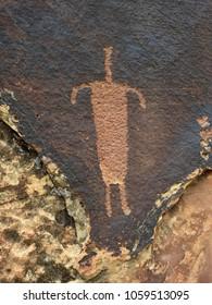 ancient native american petroglyphs in shay canyon, near canyonlands national park, utah