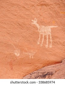 ancient native american pictographs in  canyon de chelly national monument, in northern arizona
