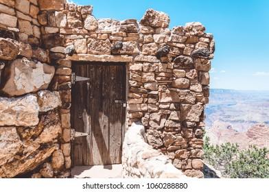 Ancient Navajo watch tower. Grand Canyon National Park, Arizona
