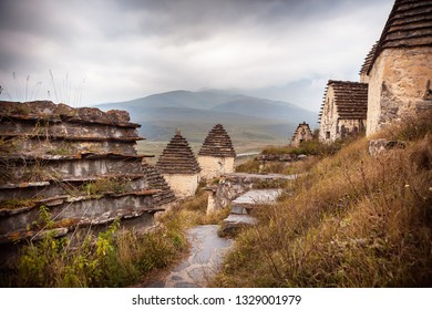 Ancient necropolis Dargavs in North Ossetia, Russia
