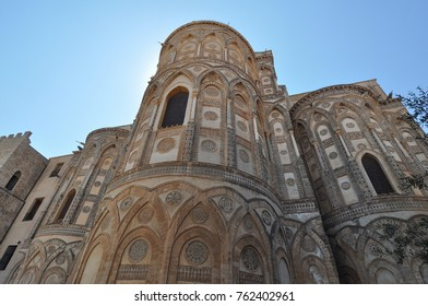 The ancient norman Cathedral church in Monreale, Italy