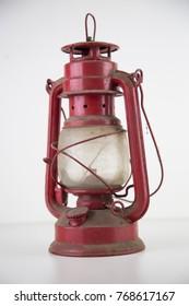 ancient oil lantern full of dust