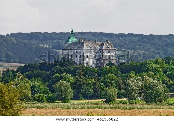 ancient Olesko castle of the 14th century in Ukraine