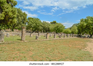 ancient Olympia Palaestra, Greece