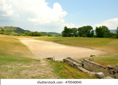 Ancient Olympic Stadium, Olympia, Greece