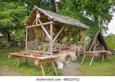 Ancient open summer kitchen.