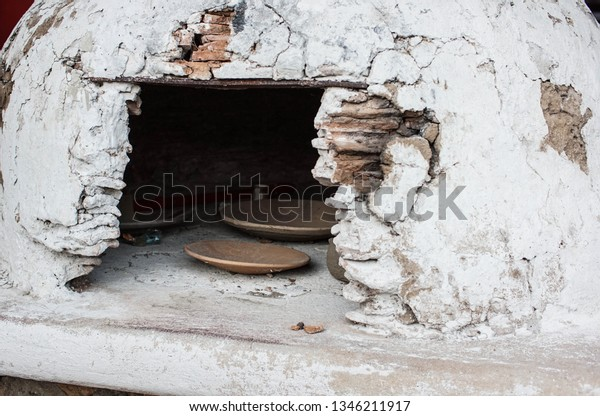 Ancient Outdoor Clay Stove Cooking Large Stock Photo Edit Now