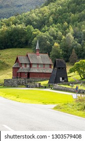 Ancient pagan wood churches in Kaupanger. Kaupanger is a town in the province of Sogn og Fjordane in the region of Vestlandet, Norway