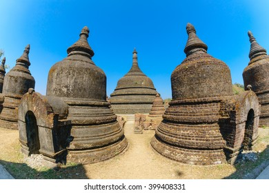 ancient pagoda at Andaw Thein temple, Mrauk U ,Rakhine state ,Myanmar