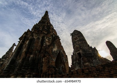 Ancient Pagoda Ayutthaya historical city, Thailand
