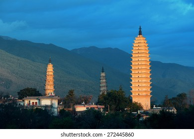 Ancient pagoda in Dali old town, Yunnan, China.