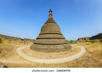 ancient pagoda at Kothaung Temple, Mrauk U ,Rakhine state ,Myanmar