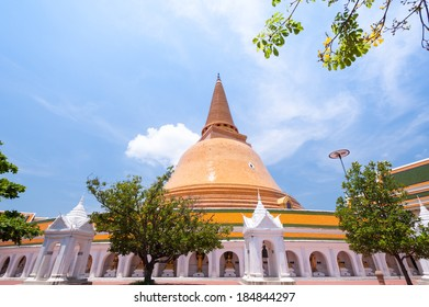 Ancient pagoda  prapathom architecture in Nakhon Pathom ,Thailand