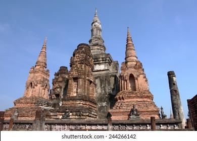 Ancient pagoda at Sukhothai Historical Park, Thailand/Sukhothai Historical Park, Thailand