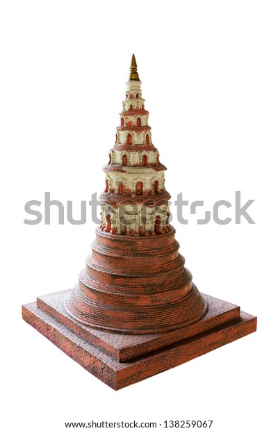 Ancient pagoda in a Thailand