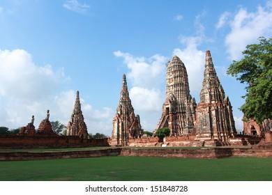 Ancient pagoda at Wat Chaiwattanaram, Ayudhya, Tahiland