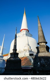 Ancient Pagoda in Wat Mahathat temple, Nakhon Si Thammarat ,Southern of Thailand