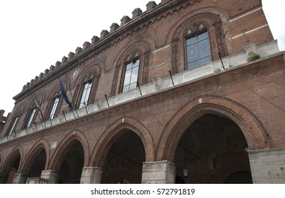 Ancient palace in central Cremona, Italy
