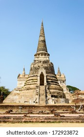 The Ancient palaces pagoda of Wat Phra Sri Sanphet Temple in Ayutthaya, Thailand