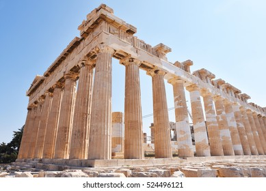 Ancient Parthenon in Acropolis Athens Greece
